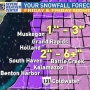 More snow and cold temps are on the way Friday, 6+ inches west of US-131